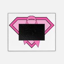 Superhero Shield Pink Ribbon Picture Frame