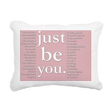 just be you (pink) Rectangular Canvas Pillow