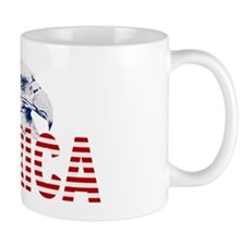 MERICA Flag  American Bald Eagle Mug