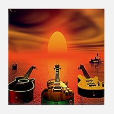 Guitar Patrol Tile Coaster