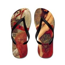 John Collier Lady Godiva Flip Flops