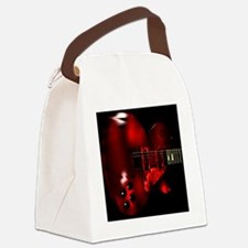 Big Red Canvas Lunch Bag