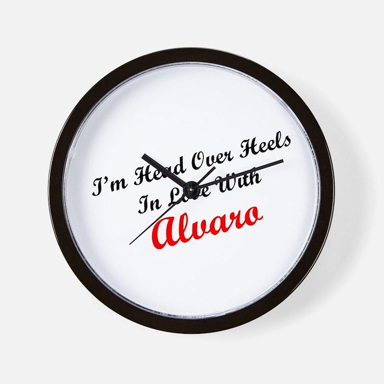 In Love with Alvaro Wall Clock