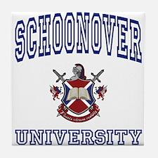 SCHOONOVER University Tile Coaster