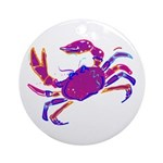 Cancer Crab Art Ornament (Round)