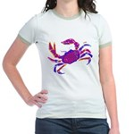 Cancer Crab Art Jr. Ringer T-Shirt