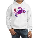 Cancer Crab Art Hooded Sweatshirt
