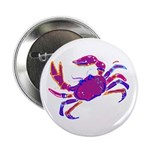 Cancer Crab Art Button