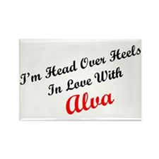 In Love with Alva Rectangle Magnet