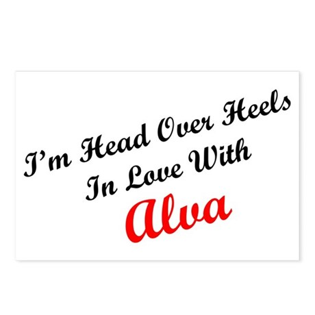 In Love with Alva Postcards (Package of 8)