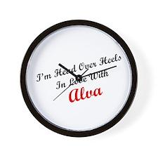 In Love with Alva Wall Clock