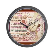 POSTER COOL step forward extra Wall Clock