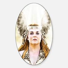 Brunnhilde, Heilige Braut Sticker (Oval)