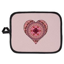 Layers of the Heart Potholder