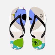 LPN bird purple Flip Flops
