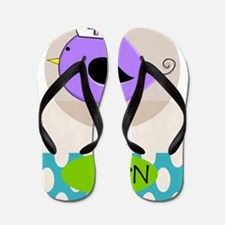 RN Bird Purple CASES Flip Flops