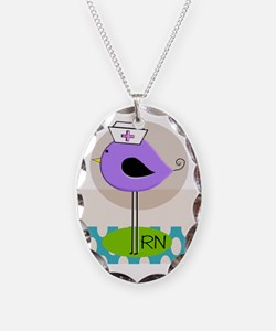 RN Bird Purple CASES Necklace