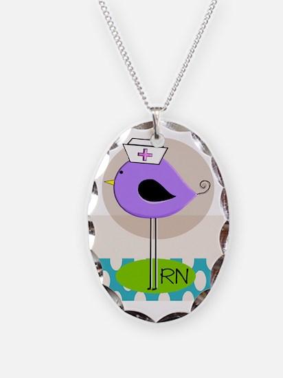 RN Bird Purple CASES Necklace