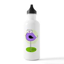 RN bird purple DARKS Water Bottle