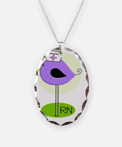RN bird purple DARKS Necklace