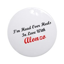 In Love with Alonzo Ornament (Round)