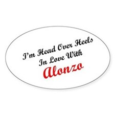 In Love with Alonzo Oval Decal
