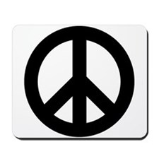 Black Peace Sign Mousepad