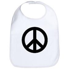 Black Peace Sign Bib