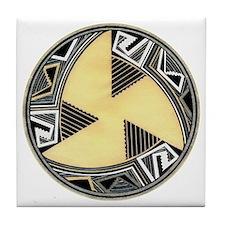 MIMBRES FAN BOWL DESIGN Tile Coaster