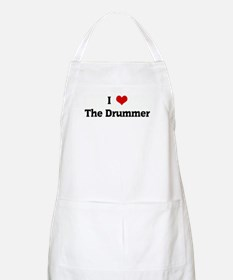 I Love The Drummer BBQ Apron