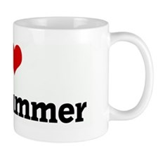 I Love The Drummer Small Mugs