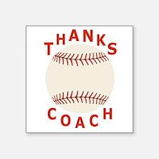 "Baseball Coach Thank You Gi Square Sticker 3"" x 3"""