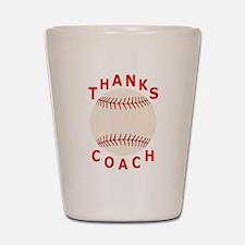 Baseball Coach Thank You Gifts Shot Glass