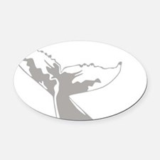 Humpback Whale Tail Oval Car Magnet