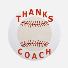 Baseball Coach Thank You Gifts Round Ornament