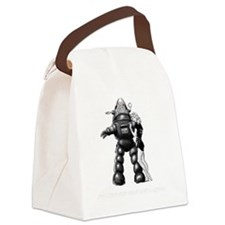 Robot Canvas Lunch Bag