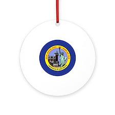 Hudson River Tour Round Ornament