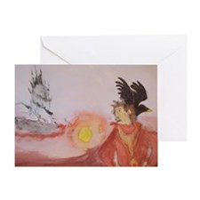The Dark Tower Watercolor Painting  Greeting Card