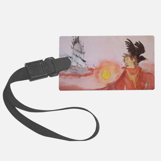 The Dark Tower Watercolor Painti Luggage Tag