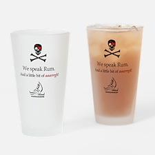 We Speak Rum Drinking Glass