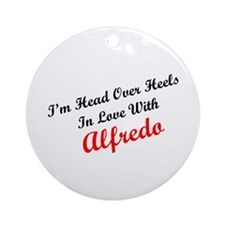 In Love with Alfredo Ornament (Round)