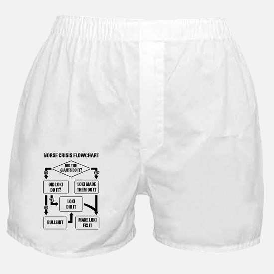 Norse Crisis Flowchart Boxer Shorts