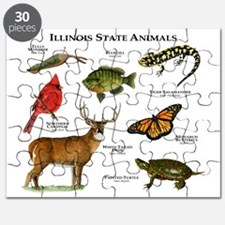 Illinois State Animals Puzzle