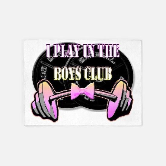 Boys club png 5'x7'Area Rug