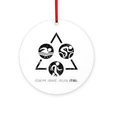 iSwim iBike iRun iTri Round Ornament