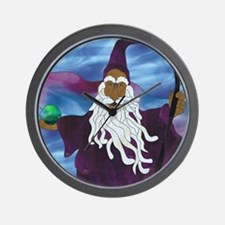 Purple Wizard Wall Clock