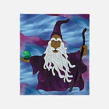 Purple Wizard Throw Blanket