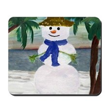 Tropical Snowman Mousepad