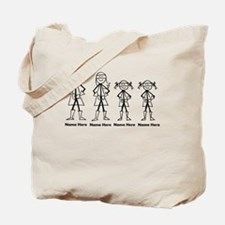 Personalized Super Family 2 Girls Tote Bag