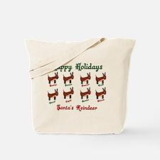 Santas Reindeer Tote Bag